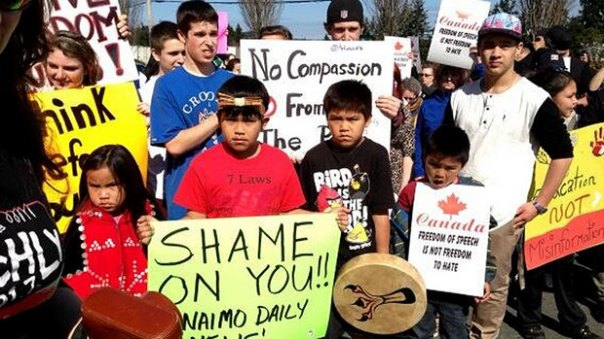 Nanaimo daily news protest