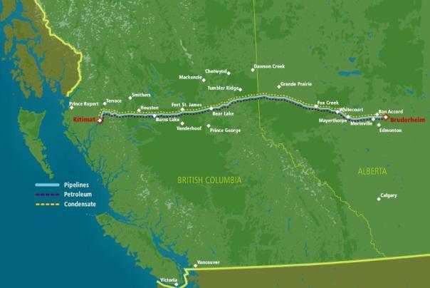 Pipeline Enbridge map colour