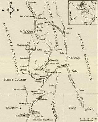 Sinixt territory map