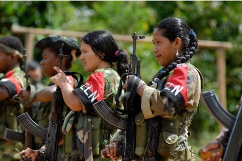 Guerrilla fighters from ELN in Colombia.