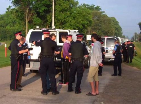 Some of the 18 protesters arrested on June 26, 2013.