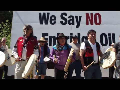 Members of Yinka Dene Alliance during anti-Enbridge rally.