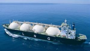 A liquid natural gas tanker in Australia.