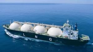 A liquid natural gas tanker in Australia.