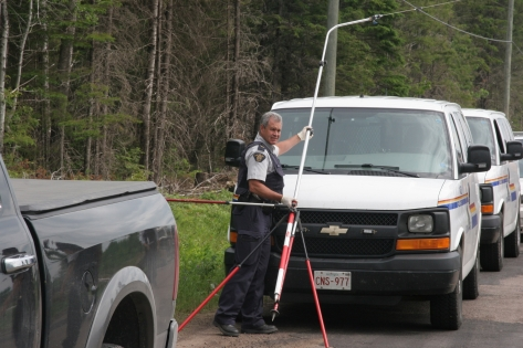RCMP removing damaged SWN equipment.