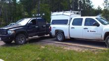 Stantec truck blocked in, June 2013.
