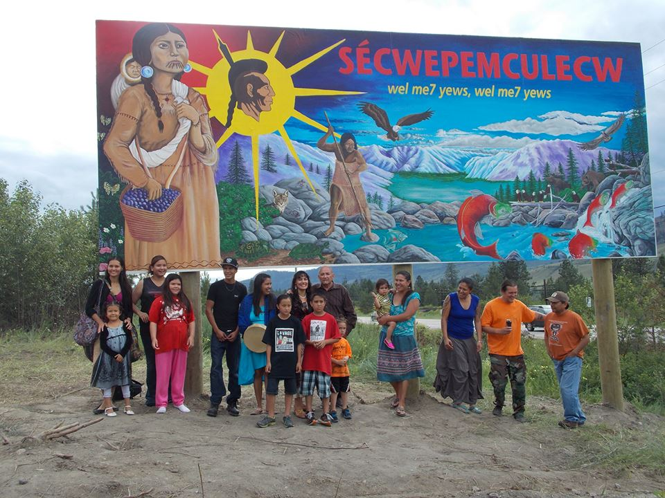 Secwepemc community mural project warrior publications for Community mural project