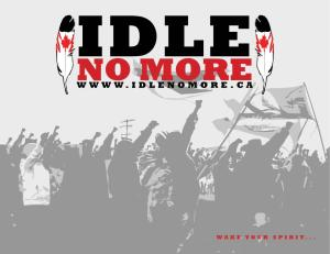 Idle No More feather flag graphic