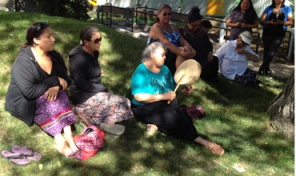 Some of the protesters from Thunderchild attending court, Aug 22, 2013.
