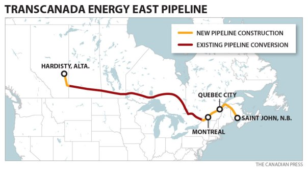 Transcanada east west pipeline map 2