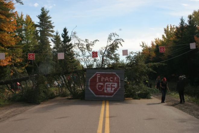 New Brunswick frack off blockade