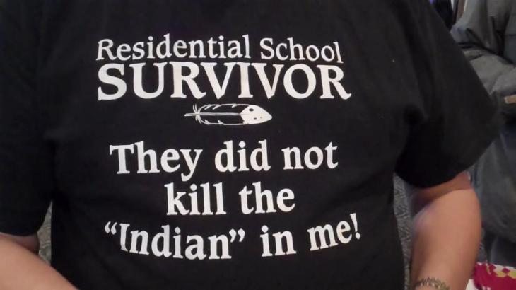 Residential School survivor t-shirt