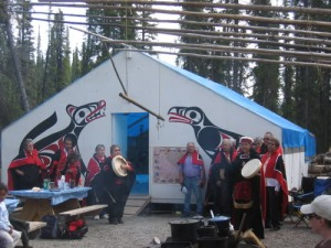 Tahltan camp at sacred headwaters.