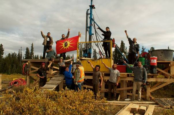 A drilling site run by Fortune Minerals is shut down by Tahltan, Sept 10, 2013.