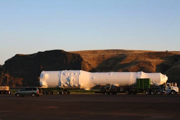 One of the massive shipments of parts to the Alberta Tar Sands passing through Nez Perce territory in Washington state.