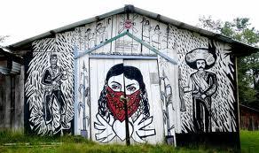 Mural in Oventic, Chiapas.