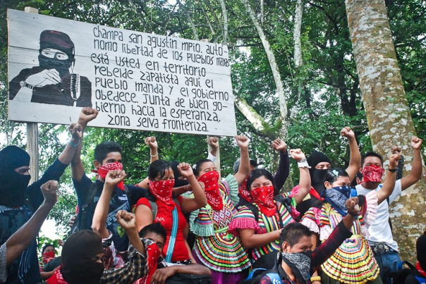 Zapatista youth fists