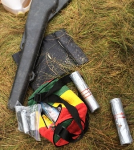Pipe bombs RCMP claim were found at site of blockade encampement, Oct 17, 2013.