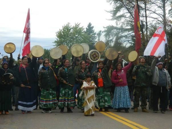 Mi'kmaq rally on Oct 7, 2013.