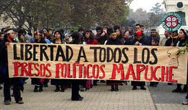 Mapuche protest in support of their political prisoners.