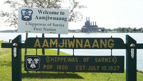 Sarnia Aamjiwnaang sign