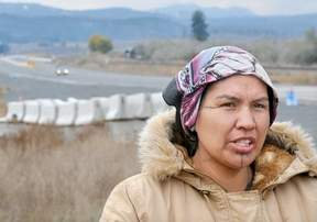 Miranda Dick of Secwepemc nation at site of ancestral remains.