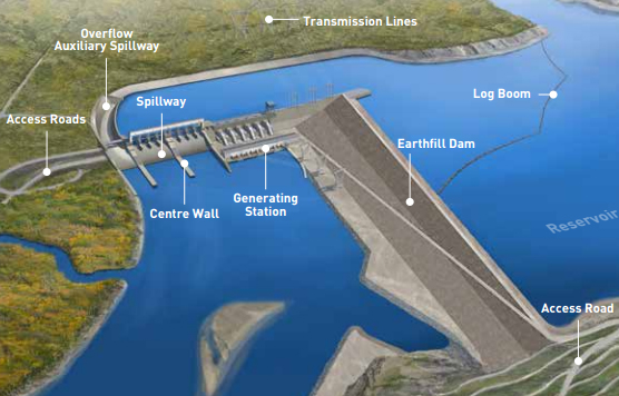 Artist's rendering of proposed BC Hydro Site C dam.