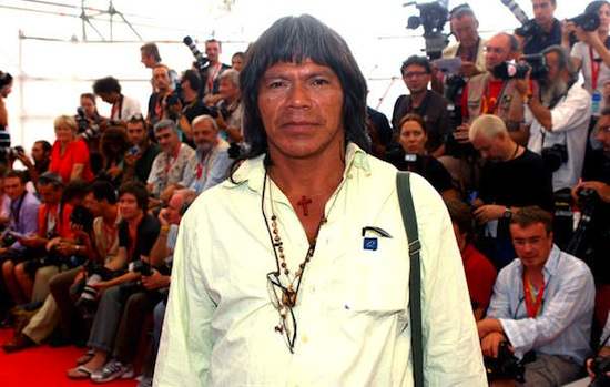 Ambriosio Vilhalva, a Guarani warrior and leader recently stabbed to death.