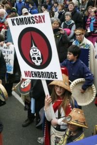 Protest in Comox, BC, against Enbridge pipeline, 2012.
