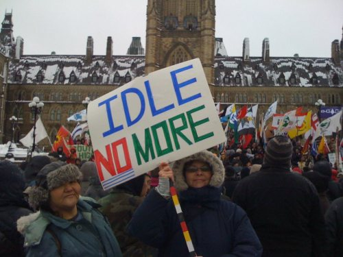 Idle No More Dec 21 ottawa sign