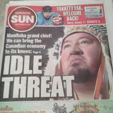 Derek Nepinak on the cover of Winnipeg Sun, 2012.