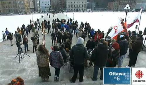 INM rally on Dec 10, 2013, in Ottawa to mark 1 year anniversary.