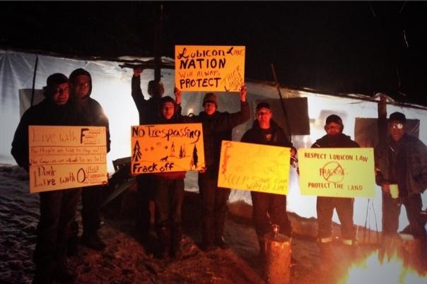 Lubicon Cree anti-fracking blockade, Dec 2013.