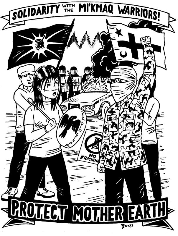 Mi'kmaq Warrior solidarity