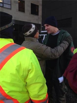 James Pictou on his release from jail Dec 17, imprisoned since Oct 17, 2013.