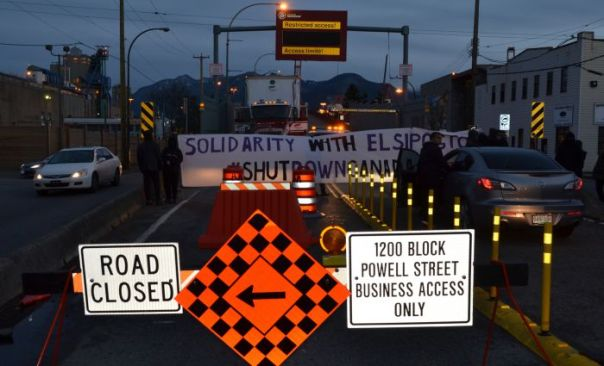 Port of Vancouver blockade, Dec 2, 2013.