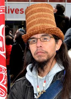 Noel Abrahams during an Idle No Morerally in 2012.