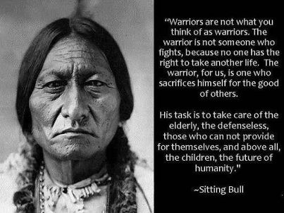 Sitting Bull warrior quote
