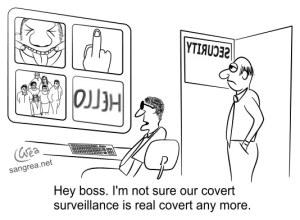 Surveillance camera cartoon