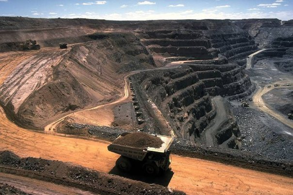 A mine in the Tar Sands of northern Alberta.