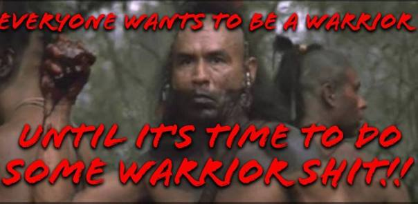 Warrior shit meme