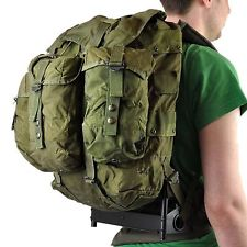 US Army ALICE pack, an external frame pack.