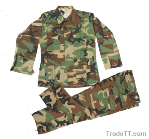 "US military ""Battle Dress Uniform"" (BDU), widely available in surplus stores both new and used."
