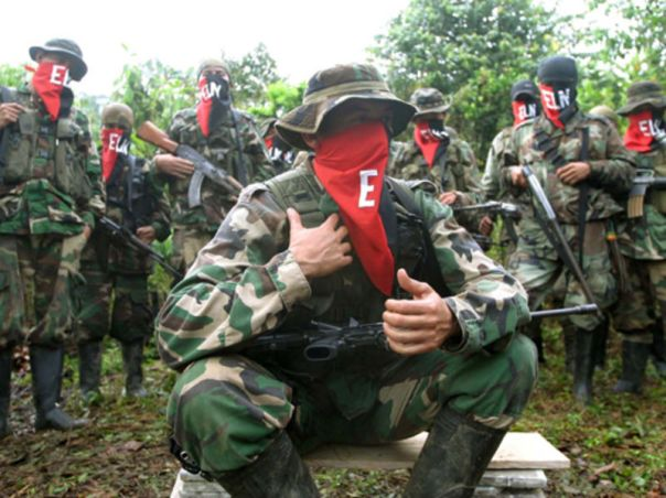 ELN guerrillas in Colombia.