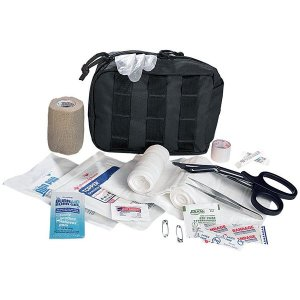Example of a small first aid kit.
