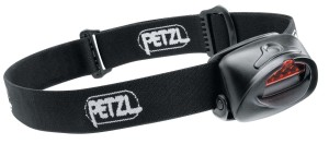 A Petz Tactikka headlamp with red lens option.