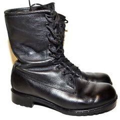 Canadian military Mark III combat boot, no longer issued but still in many surplus stores.