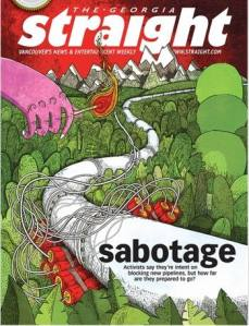 "Cover of the Georgia Straight with its ""sabotage"" article."