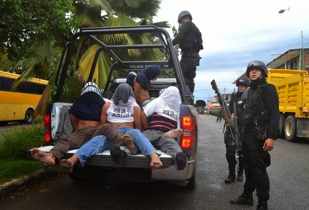 August 2013, police arrest members of Aguila Self Defense Group 3 weeks after it was established.
