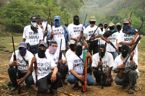 Self Defence Group of Aguila, in the Michoacan state of Mexico, January 2014.